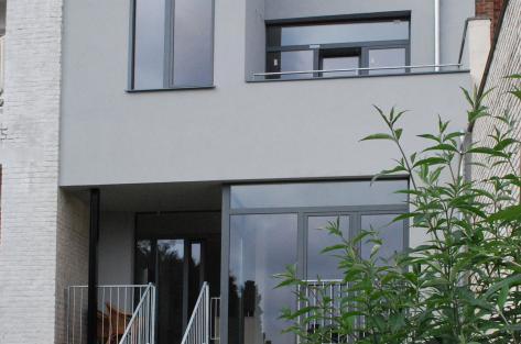 photographie de la façade jardin de la maison Gilsoul